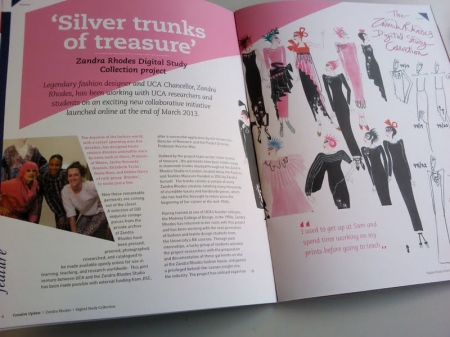 Zandra Rhodes Digital Study Collection project featured in UCA Alumni Magazine.